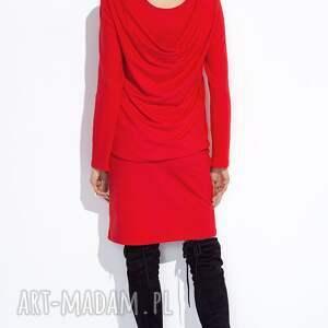 sukienki midi czerwona sukienka z bluzką do