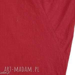 niebanalne sukienki kobieca czerwona sukienka oversize