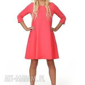 sukienka sukienki czerwone 7d rozkloszowana