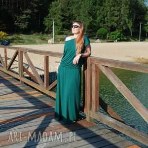 sukienki długa dzianinowa sukienka