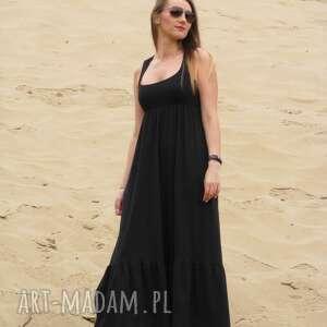 eleganckie sukienki lalu długa dzianinowa sukienka