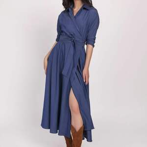 sukienki długa sukienka, suk173 jeans