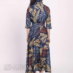 sukienka sukienki długa, suk171 liście