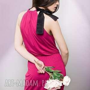 sukienki maxi długa sukienka z kokardą