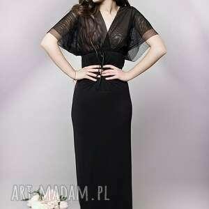 nietuzinkowe sukienki tiul długa sukienka z tiulową górą
