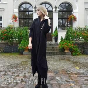 sukienki długi sweter w kolorze czarnym