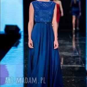 niebieskie sukienki moda donna - sukienka maxi 38