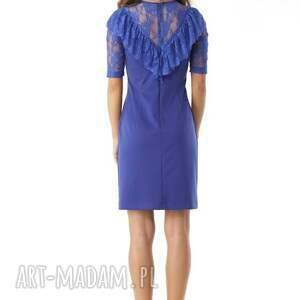 ręcznie wykonane sukienki koktajlowa-sukienka dopasowana sukienka z koronkową