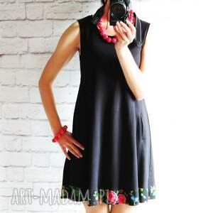 góralska sukienki dresowa trapezowa sukienka