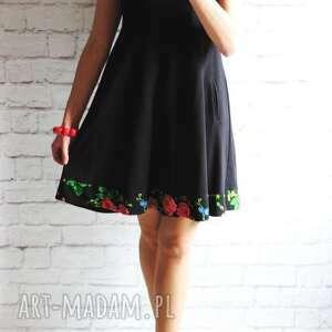 czarne sukienki sukienka dresowa trapezowa