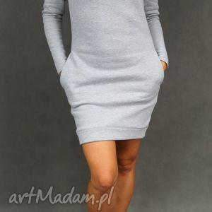 dresowa sukienki dresówka komin