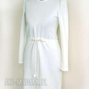 sukienki wiązanie dzianinowa sukienka z wiązaniem