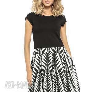 841d0f46c74a ciekawe sukienki - elegancka sukienka z zakładkami t254 czarny
