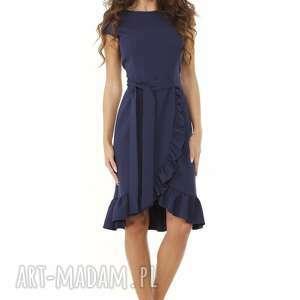sukienki elegancka sukienka falbaną