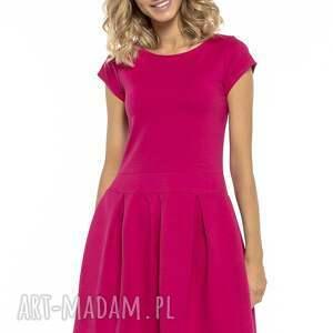 sukienki sukienka elegancka z zakłdkami