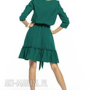 sukienki elegancka sukienka z falbaną