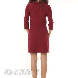 sukienki modna sukienka elegancka z kołnierzykiem
