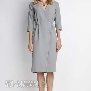sukienki casual elegancka sukienka, suk131 szary