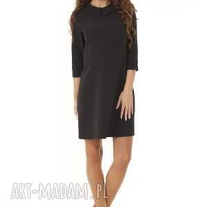 modna sukienka sukienki elegancka z kołnierzykiem