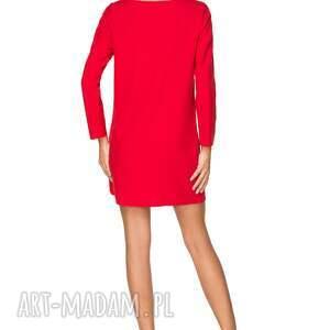 modne sukienki sukienka elegancka z zakładką, t209