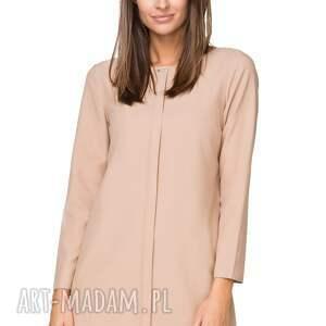sukienki elegancka sukienka z zakładką, t209