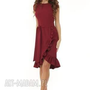 koktajlowa sukienka sukienki elegancka falbaną