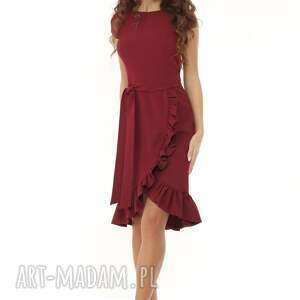 koktajlowa-sukienka sukienki elegancka sukienka falbaną