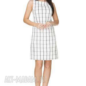 sukienki krata elegancka sukienka taliowana