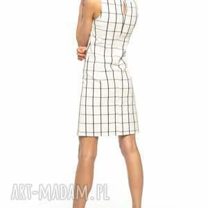 TESSITA sukienki: Elegancka sukienka taliowana w kratę, T282 - krata