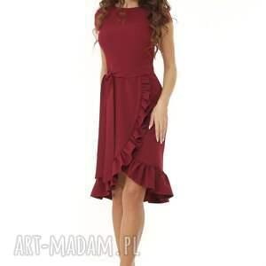 trendy sukienki koktajlowa-sukienka elegancka sukienka falbaną