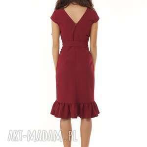 sukienki koktajlowa-sukienka elegancka sukienka falbaną