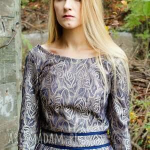 święta upominki połysk elegancka żakardowa sukienka