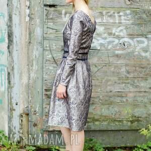 święta upominki świąteczna elegancka żakardowa sukienka