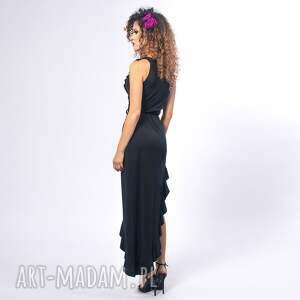 sukienki falbany elena black night