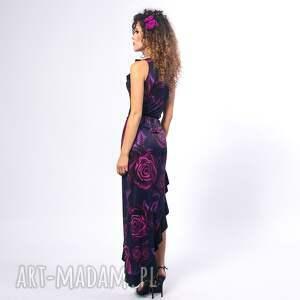 Milita Nikonorov ręcznie robione sukienki asymetryczna elena magic rose