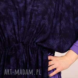 niebieskie sukienki kimono fioletowo granatowa sukienka