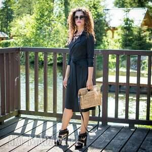 jersey sukienki gabriela midi - żakietowa sukienka