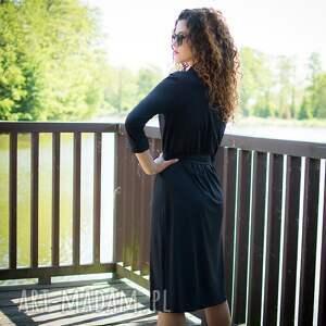 sukienki jersey gabriela midi - żakietowa sukienka