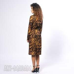 unikatowe sukienki żakietowa gabriela midi - gold zebra