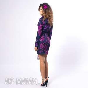 fioletowe sukienki sukienka żakietowa mini zaprojektowana