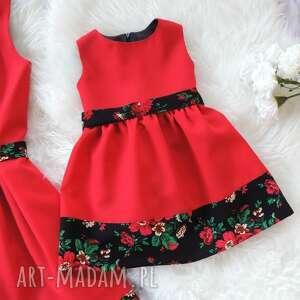 sukienki czerwone góralska sukienka dla mamy i córki