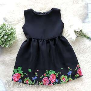 sukienka sukienki czarne góralska dla mamy i córki