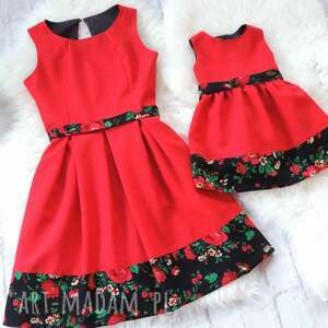 niesztampowe sukienki góralskie góralska sukienka dla mamy i córki