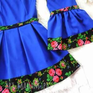 kolorowe sukienki mama-córka góralska sukienka dla mamy i córki