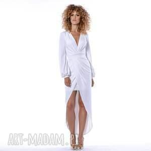 sukienki: Gracia - suknia ślubna - kopertowa