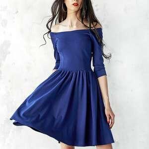 Kasia Miciak design unikatowe sukienki sukienka granatowa hiszpanka