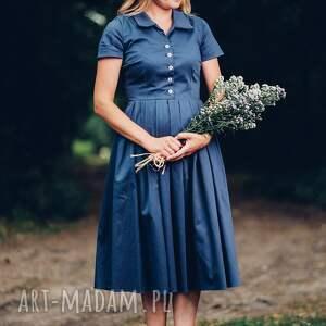 sukienki midi granatowa sukienka