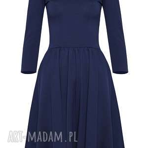 unikatowe sukienki midi granatowa sukienka hiszpanka