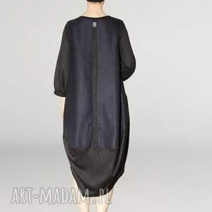 niebieskie sukienki marszczony granatowo czarna sukienka oversize