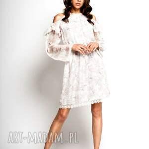 sukienki sukienka na lato hana - mała biała jedwabna